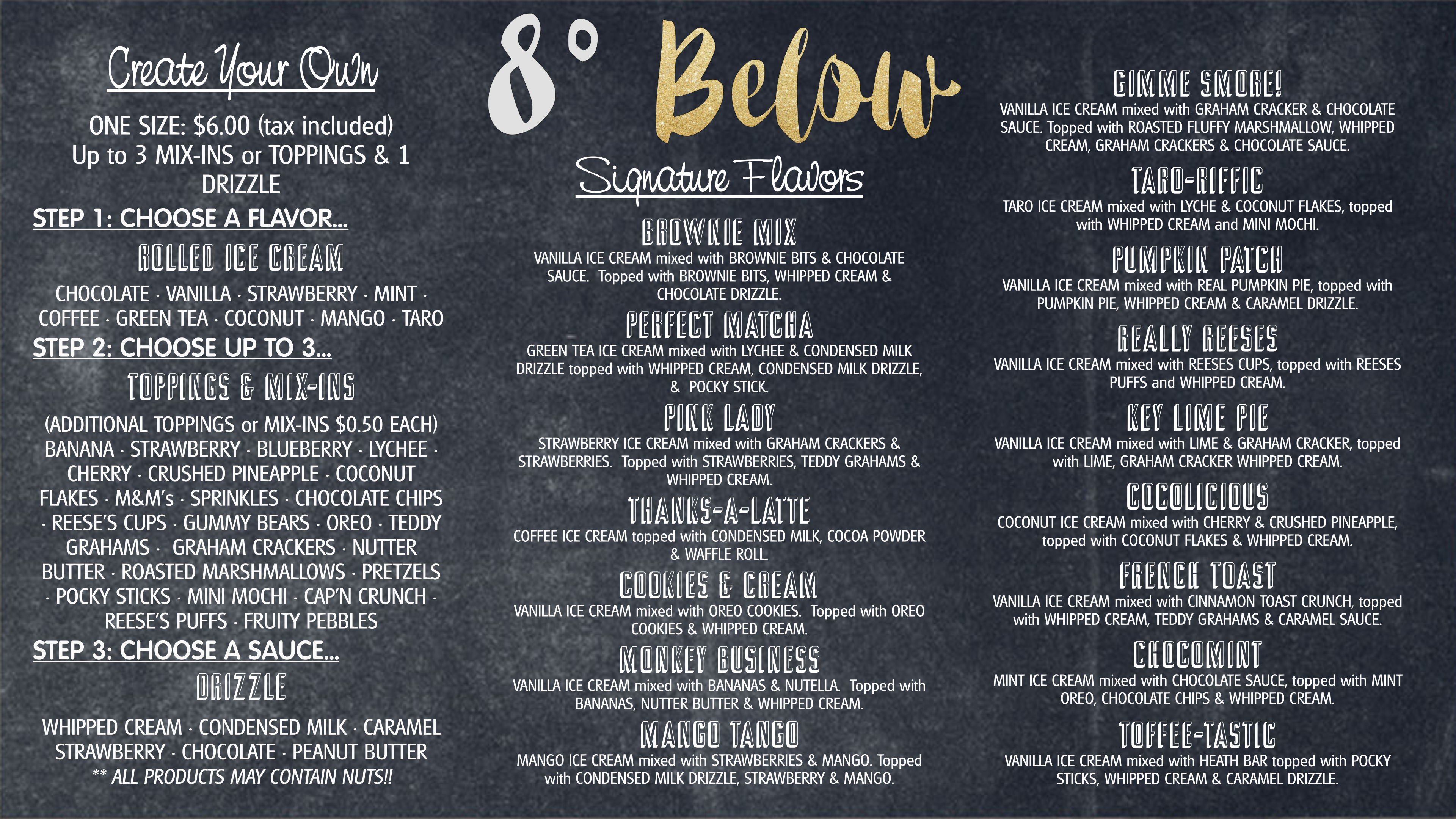 8 Degrees Below – Rolled Ice Cream
